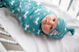 Newborn Top Knot Hat- Whimsy