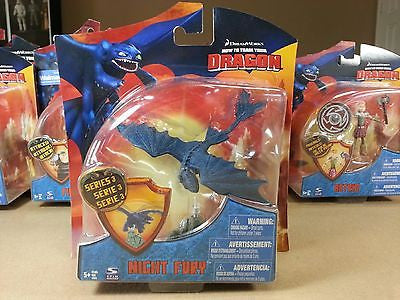 "Spin Master 2010 How to Train Your Dragon 4"" Night Fury Series 3 Action Figure H"