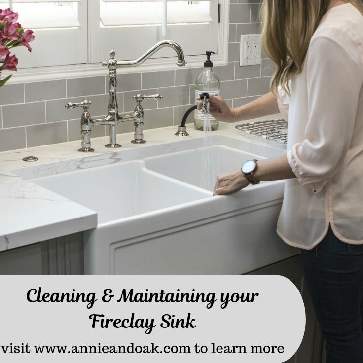 Clean & Maintain Your Fireclay Sink with These 5 Simple Tips