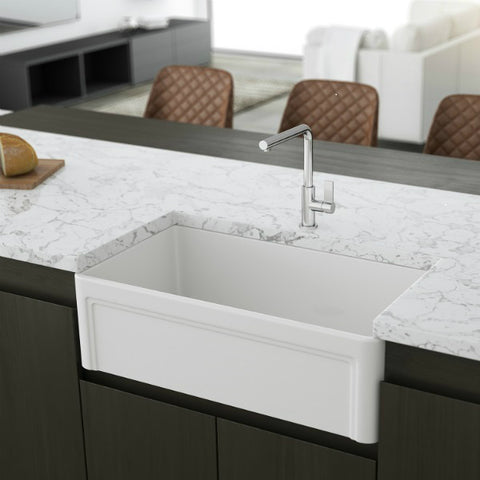 Crestwood white Fireclay farmhouse sink
