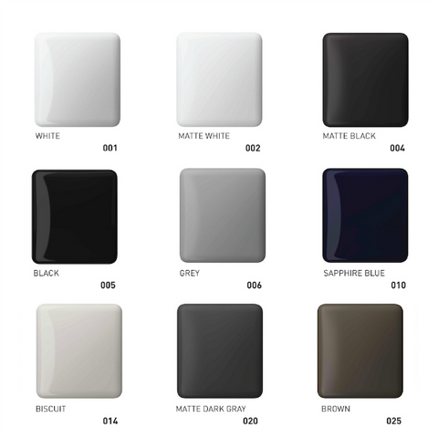 Bocchi fireclay sink colour options