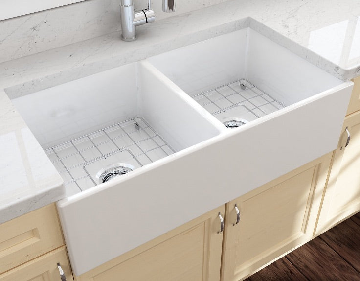 Bocchi Classico 33D White with grey countertop