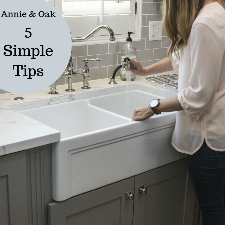 Cleaning Fireclay Sink guide