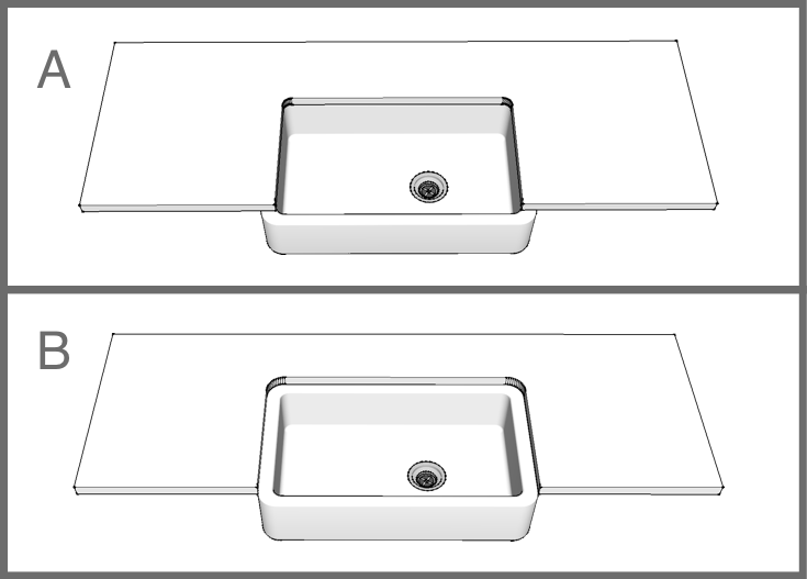 Counter Cutting Options for Your Farmhouse Sink
