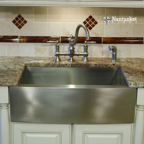 Nantucket stainless steel farmhouse sink