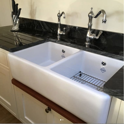 36 inch farmhouse sink by rohl