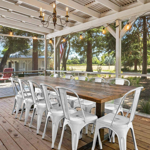 Yaheetech Metal Kitchen Dining Chairs