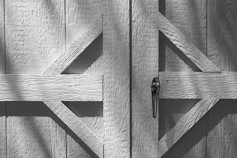 close-up of a wooden barn door