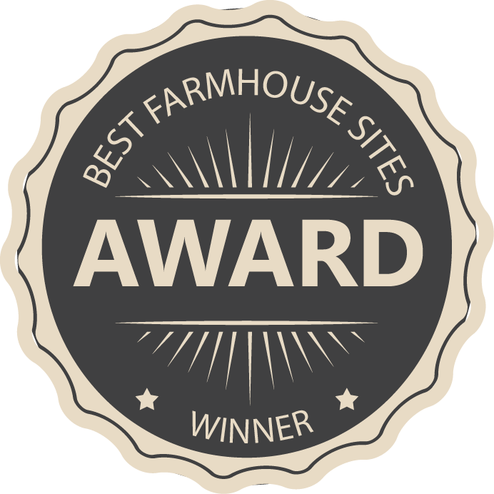 Best farmhouse sites award winner badge