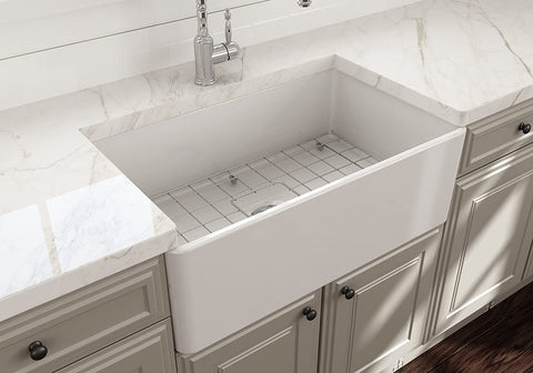 no clutter bowl sink made of fireclay
