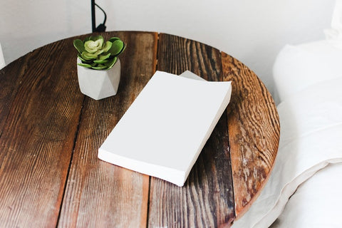 white book on round table