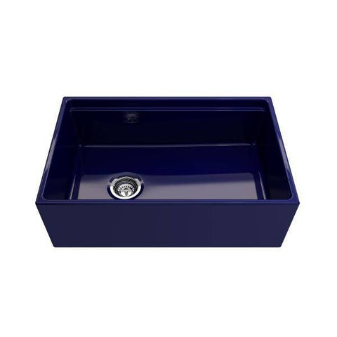 Bocchi Contempo 30 Blue Fireclay Farmhouse Sink Single Bowl Step Rim-Annie & Oak