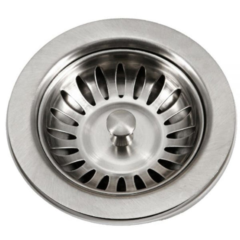 "Image of Houzer 190-9180 3.5"" Stainless Steel Basket Strainer-Annie & Oak"