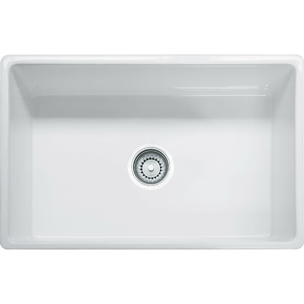 "Franke FHK710-30WH 30"" White Single Bowl Fireclay Farmhouse Sink - Annie & Oak"
