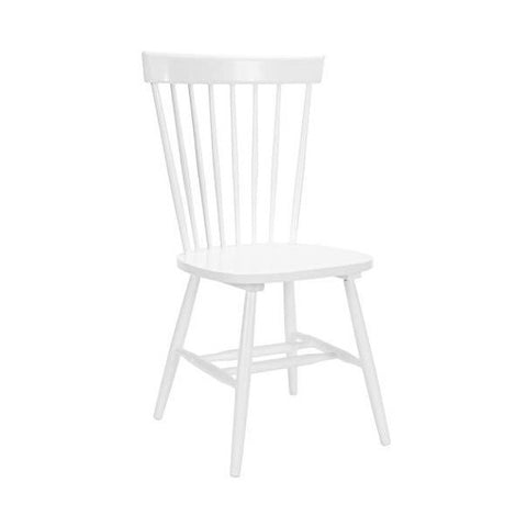 "Safavieh American Homes 21"" White Farmhouse White Spindle Side Chair - Set of 2"