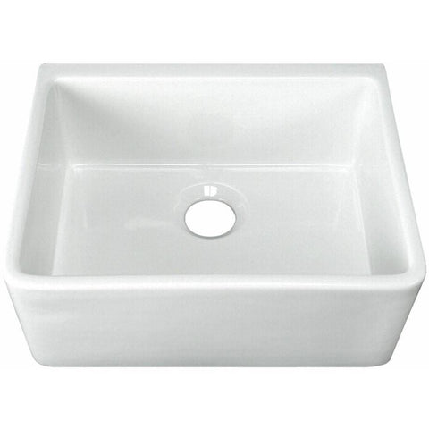 "Image of 24"" Apron Fireclay Farmhouse Kitchen Sink in White or Biscuit- FS24-Annie & Oak"