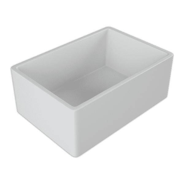 24 Fireclay Farmhouse Sink White Reversible Single Bowl Crestwood - Annie & Oak