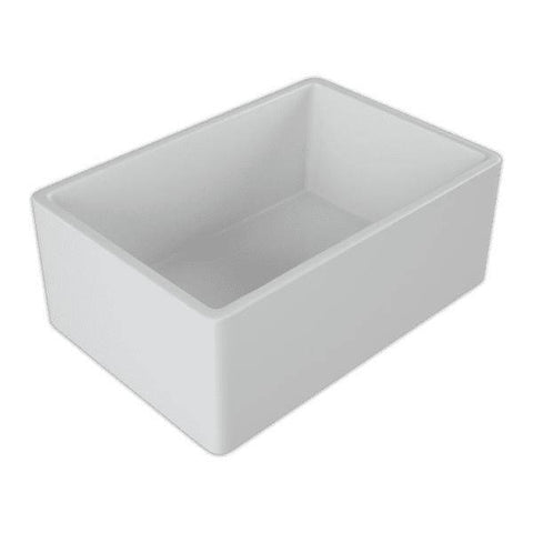 Image of 24 Fireclay Farmhouse Sink White Reversible Single Bowl Crestwood-Annie & Oak