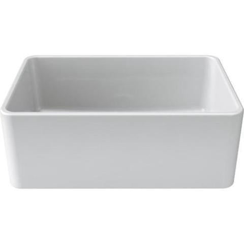 Image of Latoscana 27 White Fireclay Farmhouse Sink with Reversible Design - LTW2718W-Annie & Oak