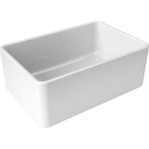 Image of Latoscana LTW2718W 27 White Fireclay Farmhouse Sink with Reversible Design - Annie & Oak