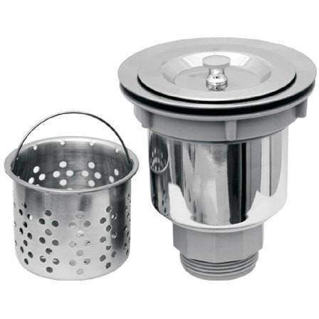 "3 1/2"" Stainless Steel Basket Strainer With Deep Removable Basket - NRNW35A-SS-Annie & Oak"
