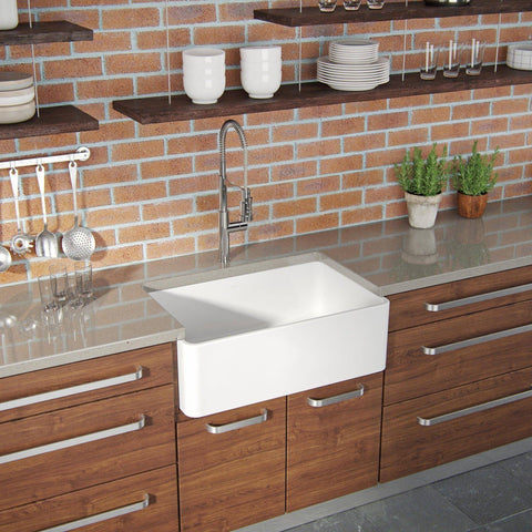 Image of Latoscana 30 White Reversible Casement Design Fireclay Farmhouse Sink LTW3019W - Annie & Oak
