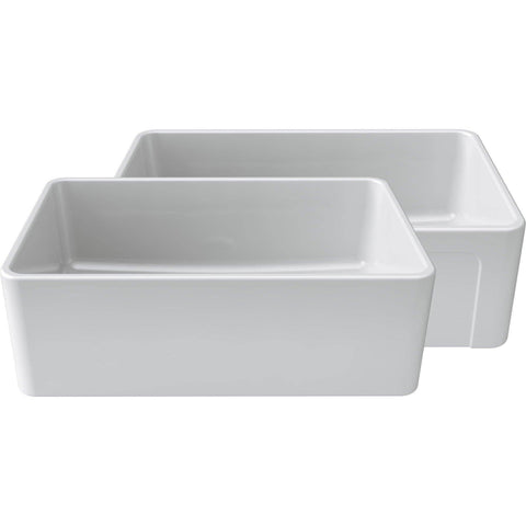 Latoscana 30 White Reversible Casement Design Fireclay Farmhouse Sink LTW3019W - Annie & Oak