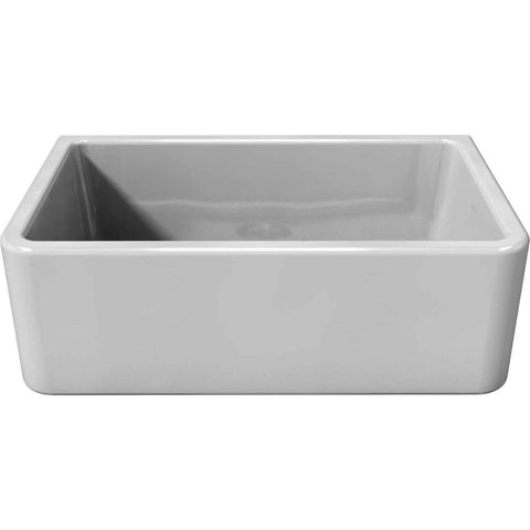"Image of Latoscana 30"" White Reversible Smooth or Fluted Fireclay Farmhouse Sink-Annie & Oak"