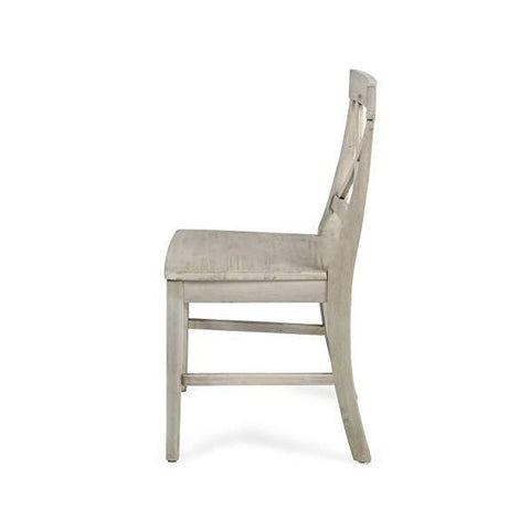 "Image of Great Deal Furniture Truda 21"" Light Grey Acacia Wood Farmhouse Dining Chairs"
