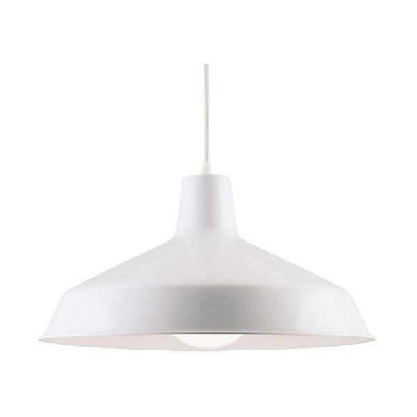 "Westinghouse Lighting 8"" White One-Light Indoor Pendant Light"