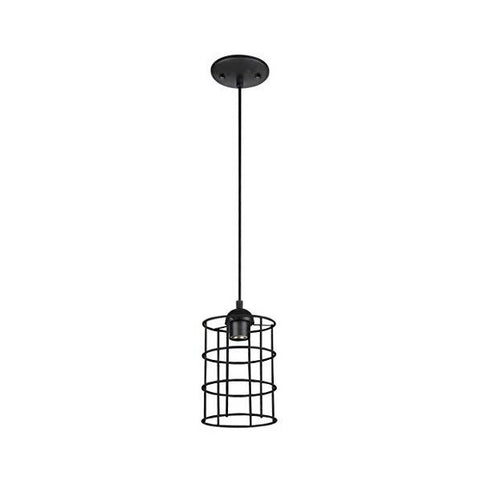 "Image of Westinghouse Lighting 9"" Bronze Industrial Cage Indoor Mini Pendant Light"