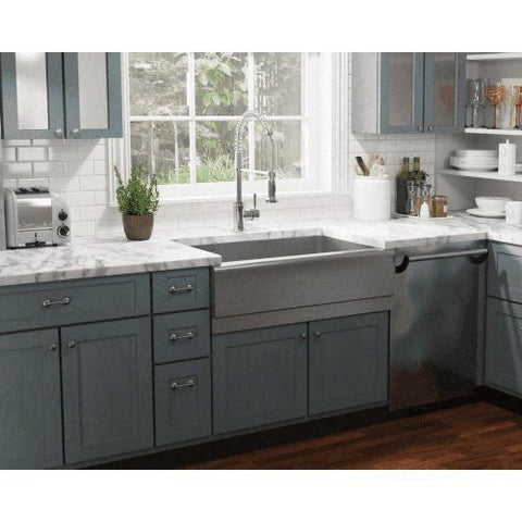 "Image of 33"" x 20"" Single Bowl Stainless Steel Farmhouse Apron Kitchen Sink - Annie & Oak"