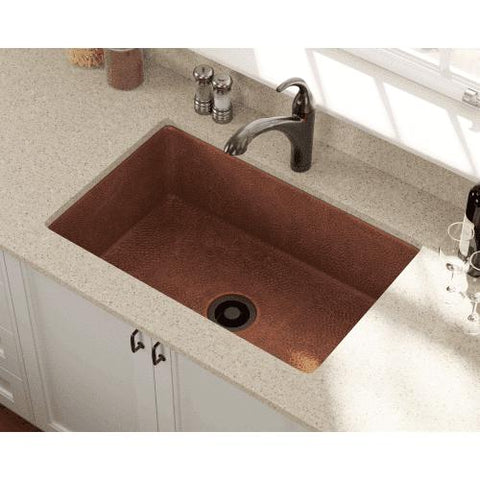 "33"" x 22"" Undermount Copper Kitchen Sink - Annie & Oak"