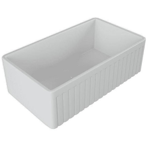 33 Fireclay Farmhouse Sink White Reversible Single Bowl - Crestwood-Annie & Oak