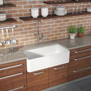 Latoscana 36 White Fireclay Farmhouse Sink Reversible Casement Design - LTW3619W-Annie & Oak