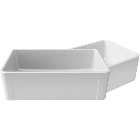 Image of Latoscana 36 White Reversible Casement Design Fireclay Farmhouse Sink LTW3619W-Annie & Oak