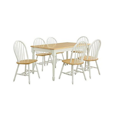 "Better Homes and Gardens 14"" White Autumn Lane Windsor Chairs - Set of 2"