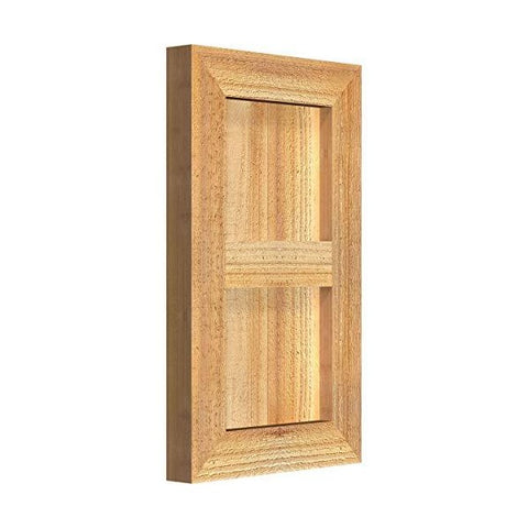 "Image of Ekena Millwork Timber Craft 10"" Rough Sawn Western Red Cedar Window Shutters"