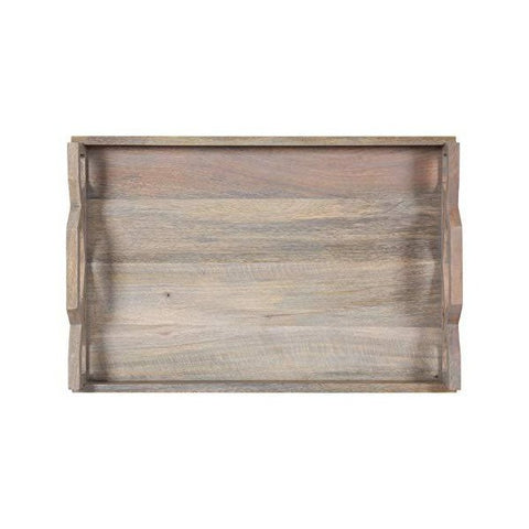 "Kate and Laurel Grassley 19"" Whitewash Decorative Farmhouse Tray"