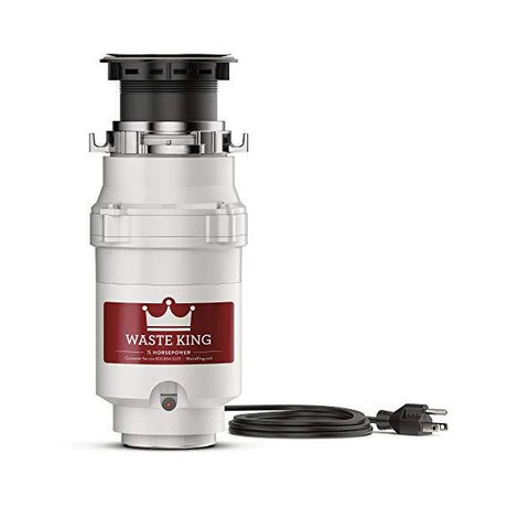 "Image of Waste King L-1001 12"" Stainless Steel 1/2 HP Continuous Feed Garbage Disposal"