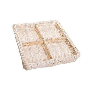 "Red Co. 11"" Natural Willow Snack Basket Tray Organizer"