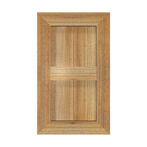 "Ekena Millwork Timber Craft 10"" Rough Sawn Western Red Cedar Window Shutters"