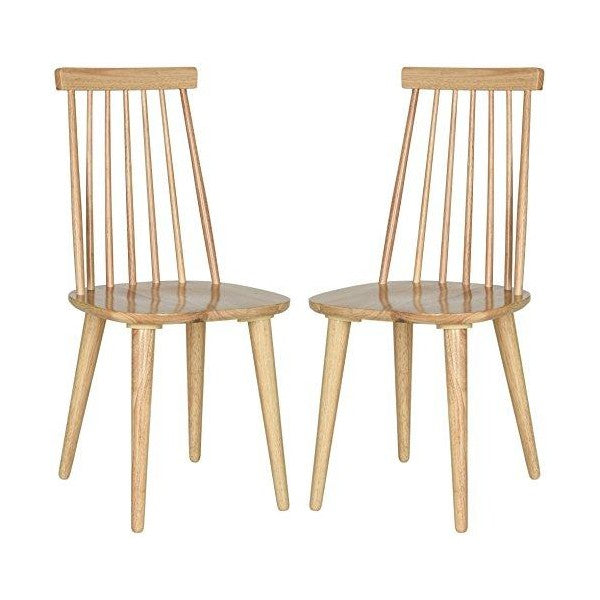 "Safavieh American Homes 20"" Natural Wood Country Farmhouse Spindle Side Chair - Set of 2"