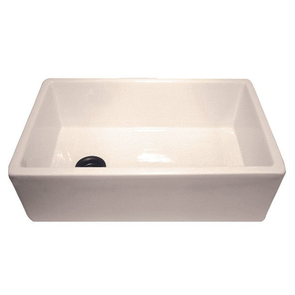 "Nantucket FCFS30B 30"" Bisque Single Bowl Fireclay Farmhouse Sink with Grid"