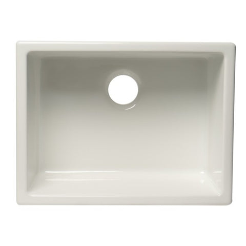 "Alfi Brand AB2418UD 24"" White Single Bowl Fireclay Undermount Sink-Annie & Oak"