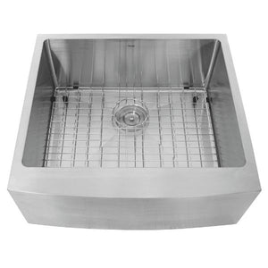 Nantucket APRON2420-SR-16 24 Stainless Steel Single Bowl Farmhouse Sink - Annie & Oak