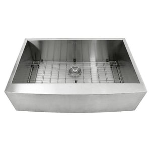 "Nantucket APRON332010-16 33"" Stainless Steel Single Bowl Farmhouse Kitchen Sink - Annie & Oak"
