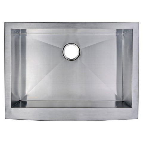 "Image of Water Creation SSSG-AS-3022A-16 30"" Stainless Steel Single Bowl Farmhouse Sink - Annie & Oak"
