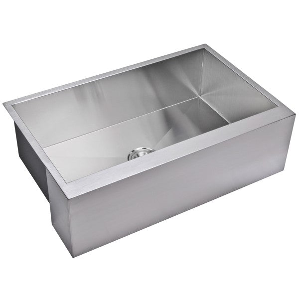 "Water Creation SSSG-AS-3321A-16 33"" Stainless Steel Single Bowl Farmhouse Sink - Annie & Oak"