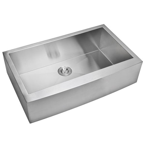 "Image of Water Creation SSSG-AS-3622A-16 36"" Stainless Steel Single Bowl Farmhouse Sink - Annie & Oak"